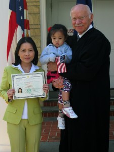 Tutor and student celebrating U.S. Citizenship