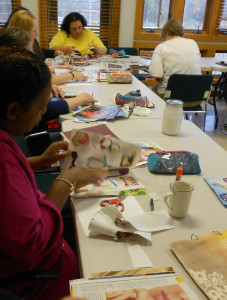 Women in the Transitional Housing Program heal and learn through hands-on projects.