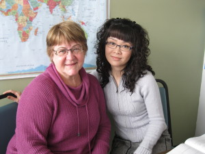 Tutor Mary Young and Student