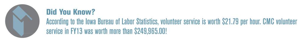 Value of Volunteer Service Graph